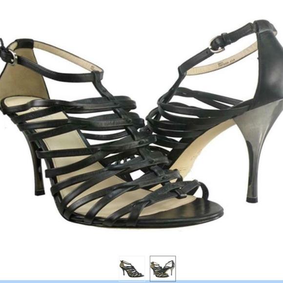 Coach Fantasia Birdcage heels